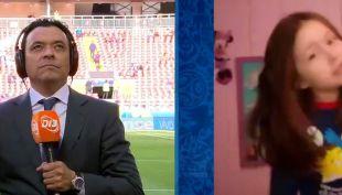 """[VIDEO] Claudio Palma se emociona con niña que imita su relato: """"Se me erizaron los pelos"""""""