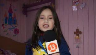 [VIDEO] Anastasia: La niña de 5 años que imita histórico relato de Claudio Palma
