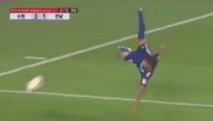 [VIDEO] El notable relato ante este acrobático golazo en Corea del Sur