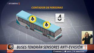 Sensores anti-evasión Transantiago