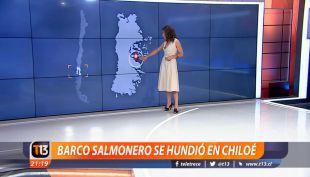 [VIDEO] Constanza Santa María explica el hundimiento de buque en Chonchi