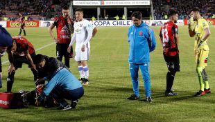 [VIDEO] Así fue la dura caída de Paulo Magalhaes en duelo de Copa Chile
