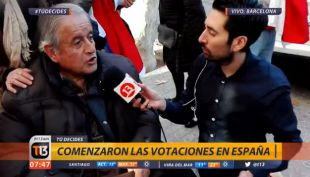 [VIDEO] Una hinchada chilena vota gritando el ceacheí en Barcelona