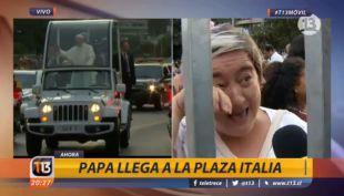 Argentinos emocionados al ver al Papa en Chile