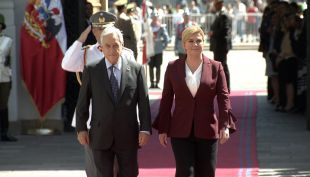 [VIDEO] Piñera recibió a presidenta de Croacia