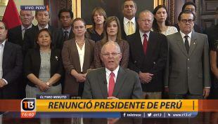 [VIDEO] Revisa el discurso con que Kuczynski renunció a la presidencia de Perú