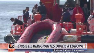 [VIDEO]  Crisis de los inmigrantes en Europa obligó a fijar una reunión de la UE