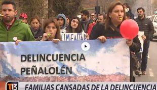 [VIDEO] Vecinos de Peñalolén se manifiestan contra la delincuencia