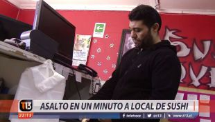 [VIDEO] Asalto en un minuto a local de sushi