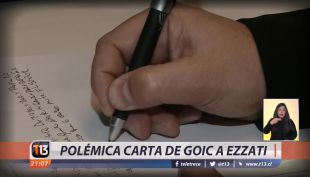[VIDEO] Polémica carta de Goic a Ezzati