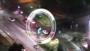 [VIDEO] Persecución termina con violento choque en Las Condes