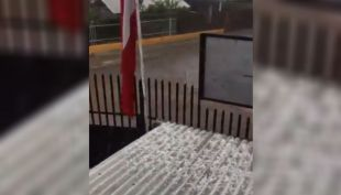 [VIDEO] Granizos y fuerte lluvia inundaron Curacaví