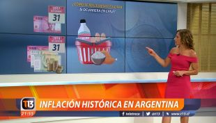 [VIDEO] Inflación histórica en Argentina: ¿Cómo se reflejaría esta cifra si ocurriera en Chile?