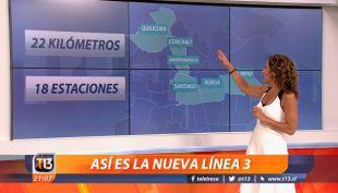 [VIDEO] 22 kilómetros y 18 estaciones: Así es la nueva Línea 3 del Metro