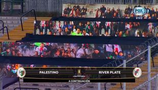 [VIDEO] El inédito apoyo virtual que recibió Palestino ante River Plate