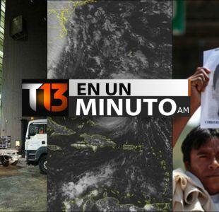 [VIDEO] #T13enunminuto: Lanzan el primer satélite argentino al espacio y otras noticias