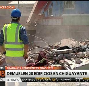 [T13TARDE] Comienza la demolición en Chiguayante de 20 casas seriamente afectadas por el 27F