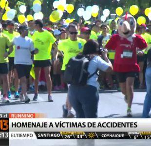 [T13Tarde] Runners homenajean a los ciclistas accidentados en la pasada Teletón