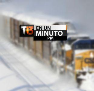 [VIDEO] #T13enunminuto: 7 víctimas deja nevazón en EE.UU. y otras noticias