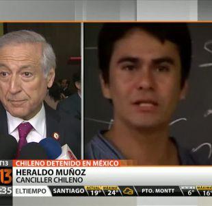 [T13 Tarde]Chile y México buscarían salida diplomática a situación de estudiante detenido