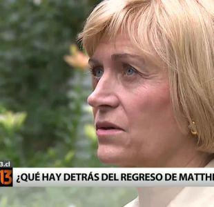 [T13] ¿Qué hay detrás de la reaparición de Evelyn Matthei?