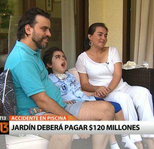 [T13] Jardín infantil deberá pagar $120 millones a familia por accidente de su hijo