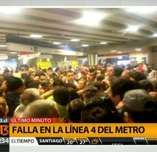 [T13 TARDE] Metro presenta nueva falla en Línea 4