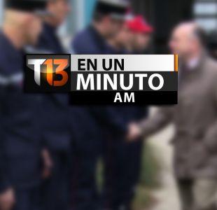 [VIDEO] #T13enunminuto: presidente de Francia pide máxima vigilancia y otras noticias