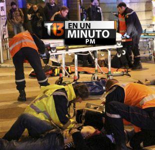 [VIDEO] #T13enunminuto: 10 heridos en Francia tras atropello en mercado navideño y más noticias