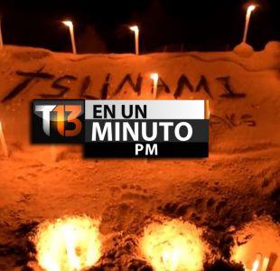 [VIDEO] #T13enunminuto: Velas y flores en conmemoración a 10 años del tsunami en Asia