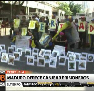 [T13 AM] Bloque internacional: Maduro ofrece canjear prisioneros y otras noticias