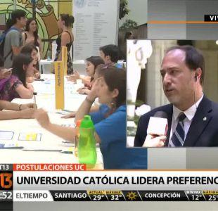 [T13 Tarde] Universidad Católica lidera preferencias en postulaciones 2015