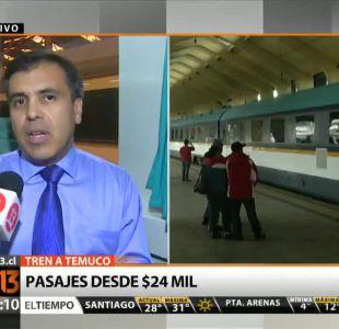 [T13 Tarde] Este viernes parte el primer tren a Temuco