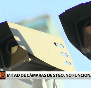 Cámaras de seguridad: Más de la mitad no funciona en Santiago