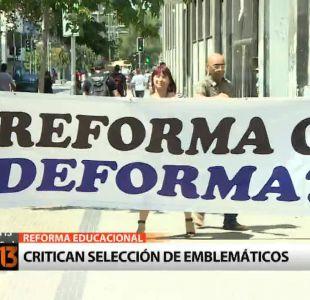 Liceos y federación de estudiantes critican reforma educacional
