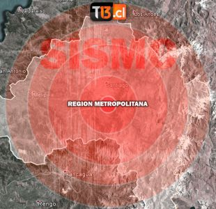 Temblor se percibe en la zona central