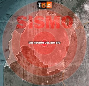 Sismo 4,2 Richter se registra en la región del Biobío