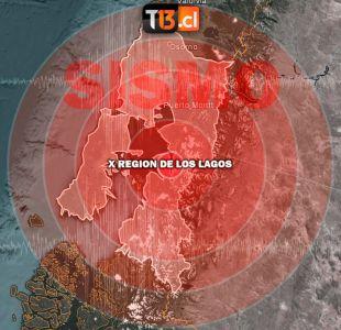 Temblor se registra en la región de Los Lagos