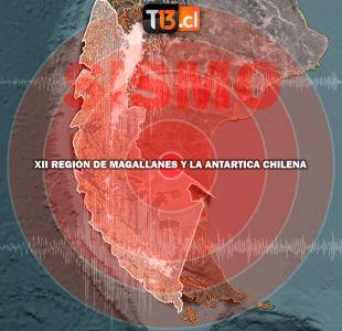 Temblor 4,9 Richter se registra en la región de Magallanes