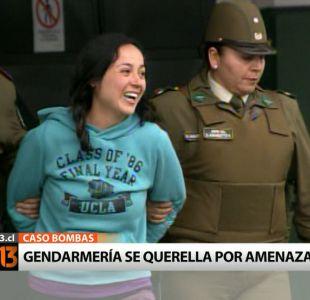 Caso Bombas: Gendarmería se querella por amenazas