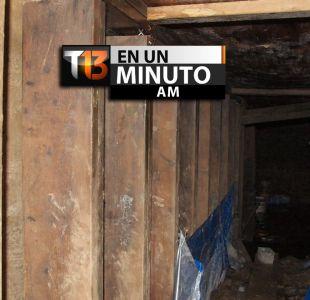 [VIDEO] #T13enunminuto: encuentran túnel de 10 metros bajo Toronto entre otras noticias