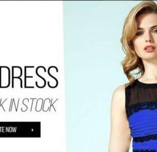 El vestido era azul y negro