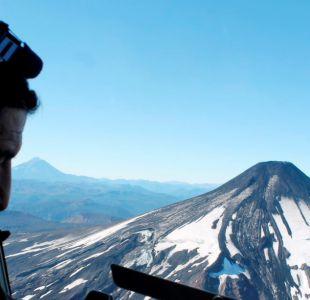 Diez impresionantes imágenes de un sobrevuelo por el volcán Villarrica