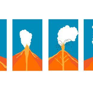 Infografía: Cómo son los distintos tipos de erupciones volcánicas
