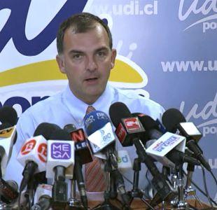 [VIDEO] Así fue la renuncia de Ernesto Silva a la presidencia de la UDI