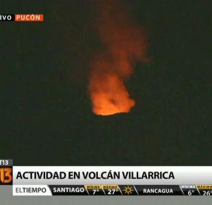 Actividad moderada se registra en Volcán Villarrica