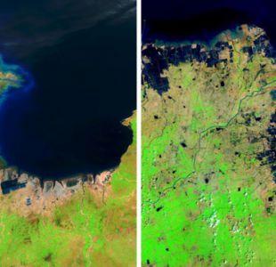 Una vista desde el espacio a la huella del hombre en el planeta