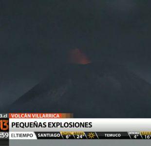 [VIDEO] Volcán Villarrica presenta pequeñas explosiones a más de dos meses de su erupción