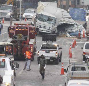 [FOTOS] Las imágenes que dejó el choque múltiple en Autopista Central