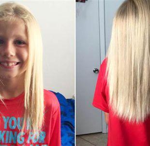 La emotiva historia del niño que dejó crecer su pelo para donarlo a niños con cáncer
